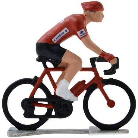 Red jersey H-WB - Miniature cycling figures
